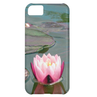 Pink water lily iPhone 5C case
