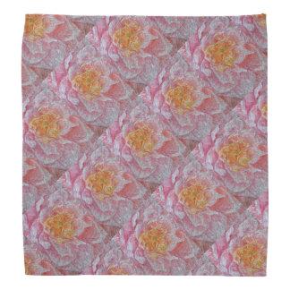 Pink Water Lily Pattern Bandannas