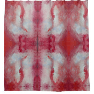 Pink Watercolor Art Shower Curtain