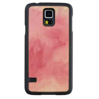 pink watercolor background for your carved maple galaxy s5 case