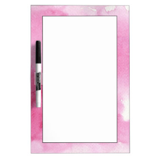pink watercolor background for your dry erase board