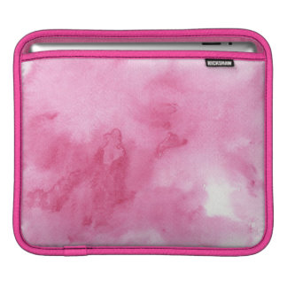 pink watercolor background for your iPad sleeve