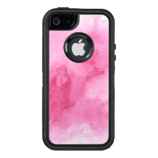 pink watercolor background for your OtterBox iPhone 5/5s/SE case