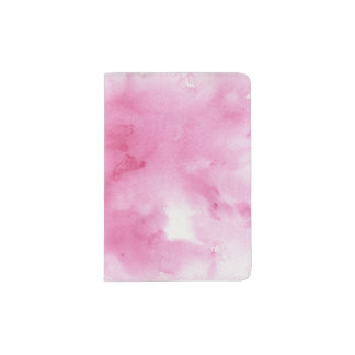pink watercolor background for your passport holder