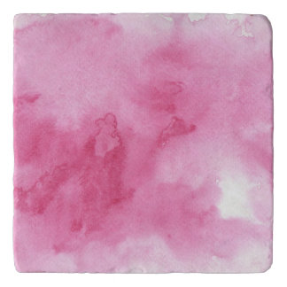 pink watercolor background for your trivet