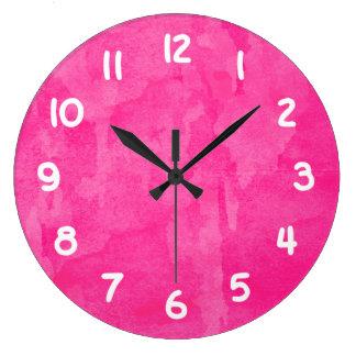 Pink Watercolor Background Wallclock