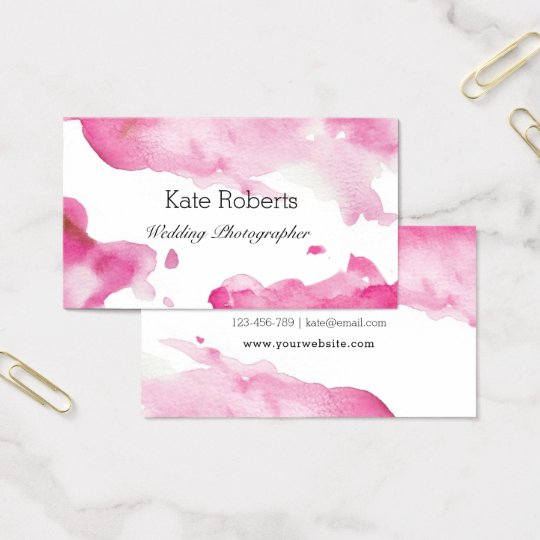 Pink Watercolor business card | creative