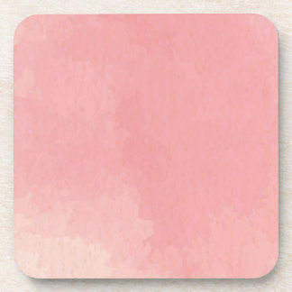 Pink Watercolor Contemporary Abstract Art Coasters