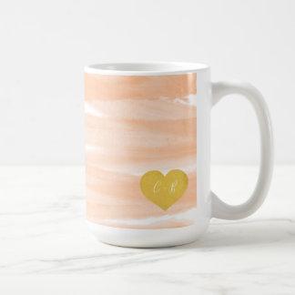 Pink Watercolor Couple's Coffee Mug