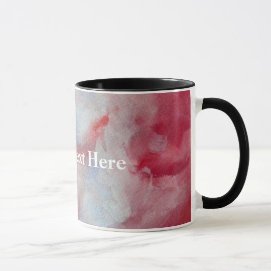 Pink Watercolor custom Text Ringer Combo Mug
