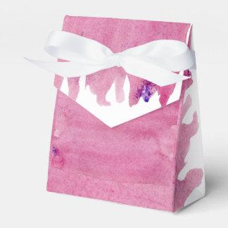 Pink Watercolor Favor Box