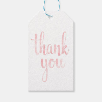 Pink watercolor favor tags