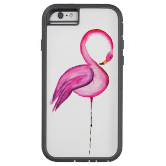 Pink watercolor flamingo decoration tough xtreme iPhone 6 case