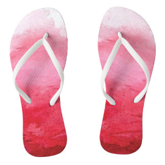 Pink Watercolor Flip Flop
