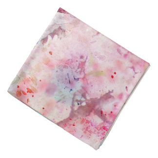 Pink Watercolor Floral Bandana
