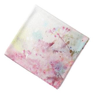 Pink Watercolor Floral Bandana
