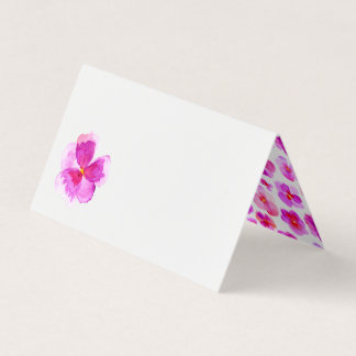 Pink watercolor floral wedding event place cards