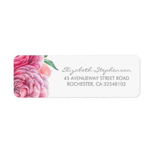 Pink Watercolor Flowers Elegant Wedding