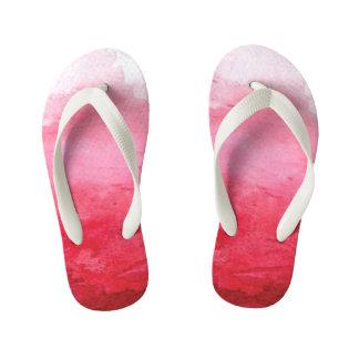 Pink Watercolor Kids Flip Flop