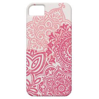 Pink Watercolor Mandala iPhone case