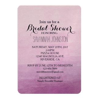 Pink Watercolor Ombre bridal shower 13 Cm X 18 Cm Invitation Card