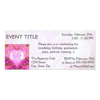 Pink Watercolor Petal 10 Cm X 24 Cm Invitation Card