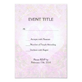 Pink Watercolor Petal 9 Cm X 13 Cm Invitation Card