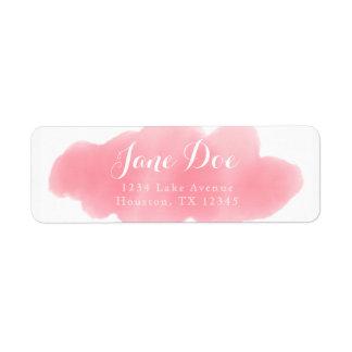 Pink Watercolor Return Label