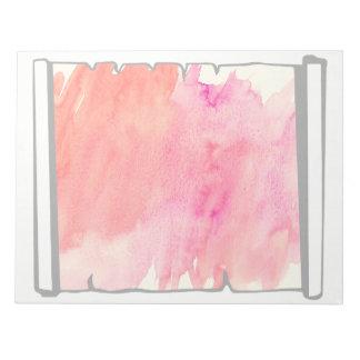 Pink Watercolor Scroll Scrapbooking Fun Notepads
