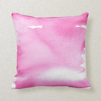 Pink Watercolor Splash Pillow