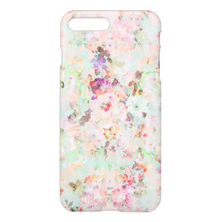 Pink watercolor vintage flowers pattern iPhone 8 plus/7 plus case