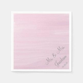 Pink Watercolor Wedding Napkins Paper Serviettes