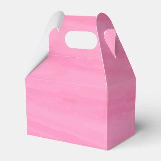 Pink Watercolor Wedding Party, Bridal Shower Favor Favour Box