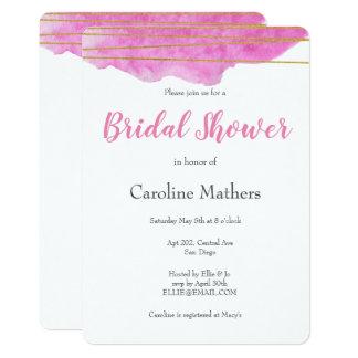 Pink Watercolour Bridal Shower Invitation