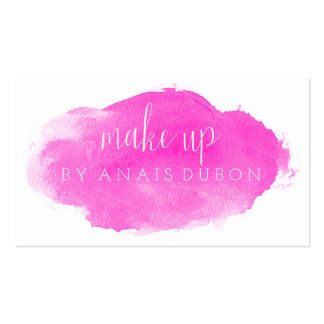 ★ Pink Watercolour Modern Calligraphy  Card ★ Pack Of Standard Business Cards