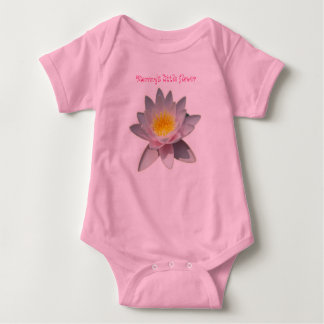 Pink Waterlily Baby Mommy's little flower Baby Bodysuit