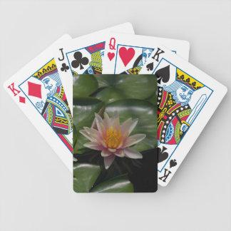 Pink Waterlily Lotus Playing Card