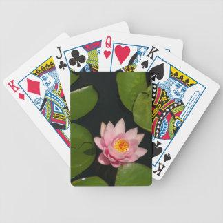 Pink Waterlily Lotus Playing Cards