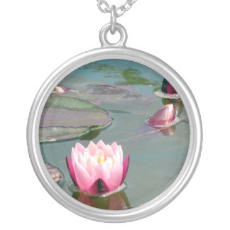 Pink Waterlily necklace