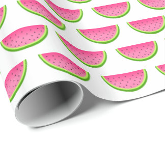 Pink Watermelon Pattern Wrapping Paper