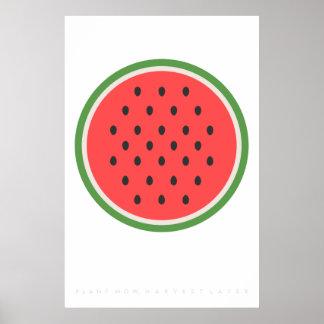 Pink Watermelon Retro Poster 60's 70's Quote
