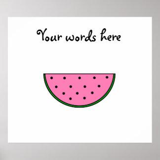 Pink watermelon slice poster