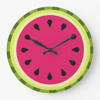 Pink Watermelon Slice Wall Clock