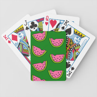 Pink Watermelons Bicycle Playing Cards
