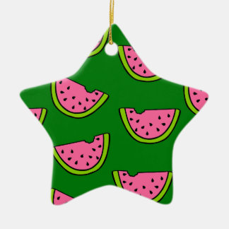Pink Watermelons Christmas Ornament