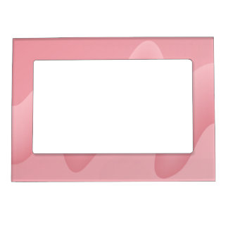 Pink Wave Abstract Image. Magnetic Picture Frame