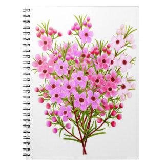 Pink Waxflower Bouquet Notebook