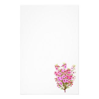 Pink Waxflower Bouquet Stationery