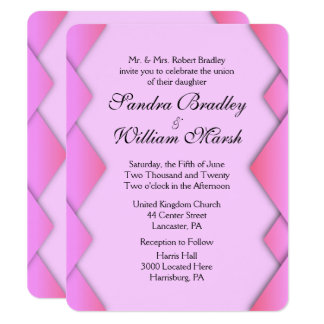 Pink Weave Wedding 11 Cm X 14 Cm Invitation Card