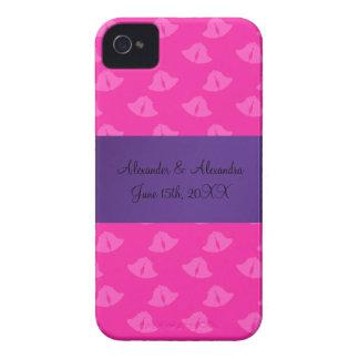 Pink wedding bells wedding favors iPhone 4 Case-Mate case